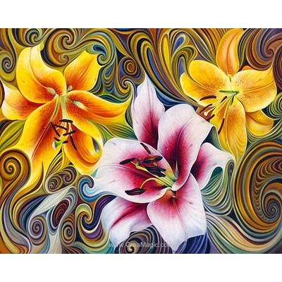 Broderie diamant Diamond Painting three lilies