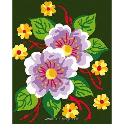 Kit canevas Luc Création pour enfants fleurs naturelles