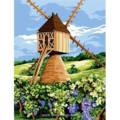 Le moulin de vignes canevas - Margot
