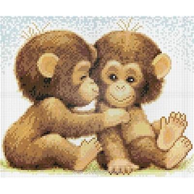Broderie diamant Diamond Painting monkeys