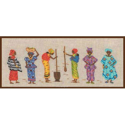 Kit broderie point compté les africaines colorées de Le Bonheur Des Dames