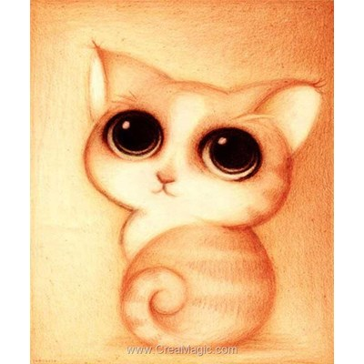 Broderie diamant cute kitten de Diamond Painting