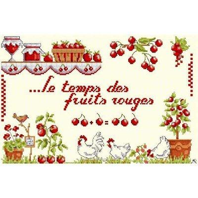 Fiche de broderie d'Anagram au point de croix le temps des fruits rouges