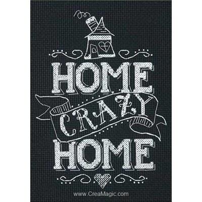 Home cray home broderie au point de croix compté - Dimensions
