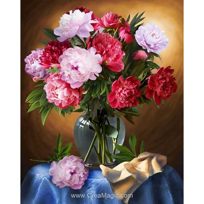 Broderie diamant vaase rosentine - Diamond Painting