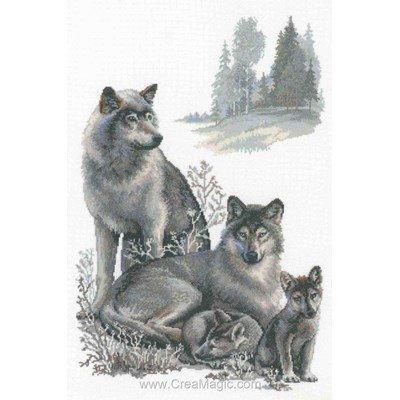 Kit à broder RIOLIS famille de loups
