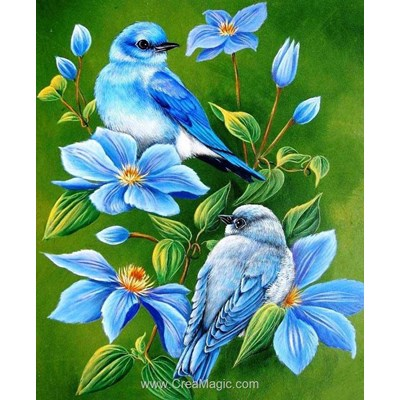 Broderie diamant birds on the branch de Diamond Painting