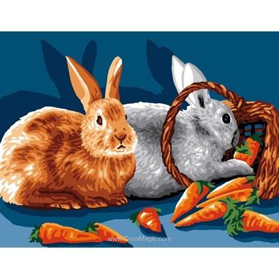 Canevas les carottes des lapins - Luc Création