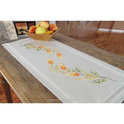 Kit chemin de table mary ann épis dorés en broderie traditionnelle de Duftin