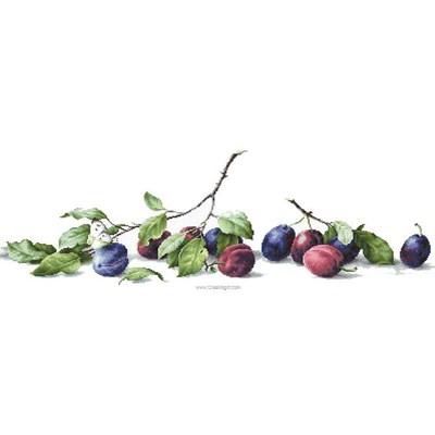 Kit tableau Luca-S point de croix prunes