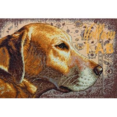 Labrador tableau broderie point de croix - Dimensions
