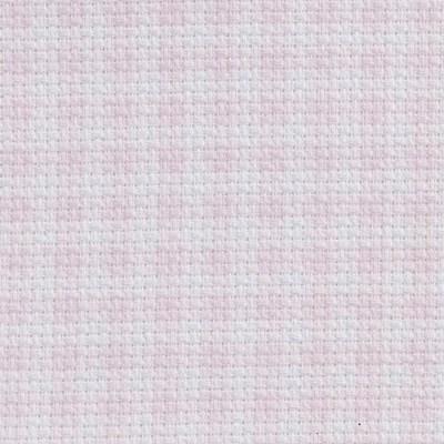 Toile aida 5,5 carreaux rose imprimée - DMC
