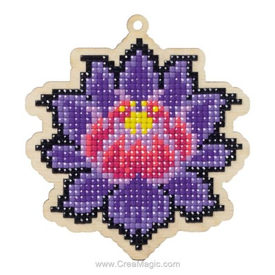 Broderie diamant magical lotus de Wizardi