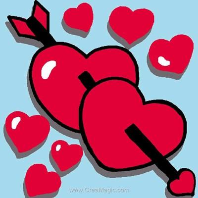 Coeurs kit canevas Luc Création pour débutant