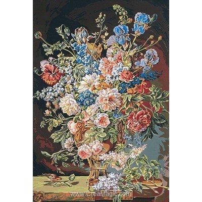 Canevas vase de fleurs xviiie siècle - SEG