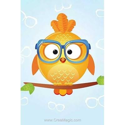 Broderie diamant Wizardi owl leo