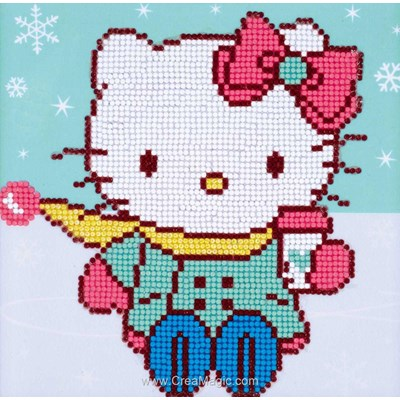 Broderie diamant hello kitty dans la neige - Vervaco