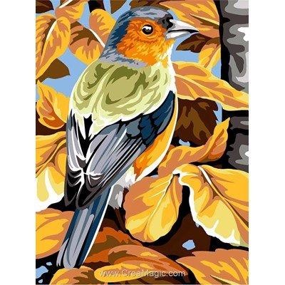 Oiseau aux feuilles d'automne canevas - Margot
