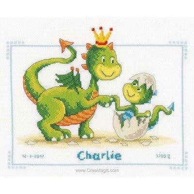 Broder pour bébé dragon et sin fils - Vervaco