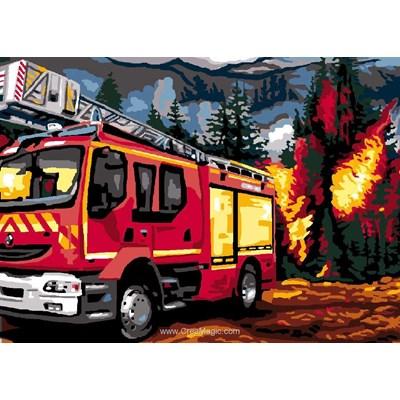 Luc Création canevas pompiers