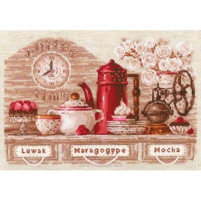 Le point de croix RIOLIS le service à thé rouge