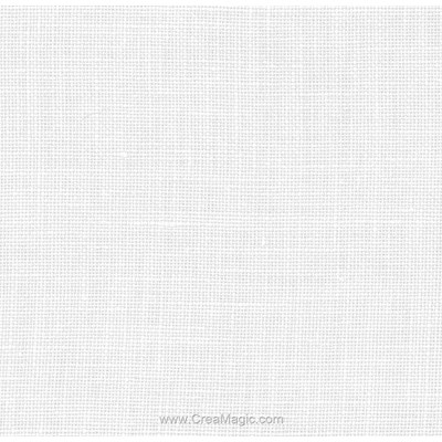 Toile lin edinburgh 14 fils blanc (100) de Zweigart