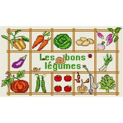 Les bons légumes fiche de broderie d'Anagram au point de croix