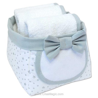 Panier nursery bébé etoiles à broder - CSM