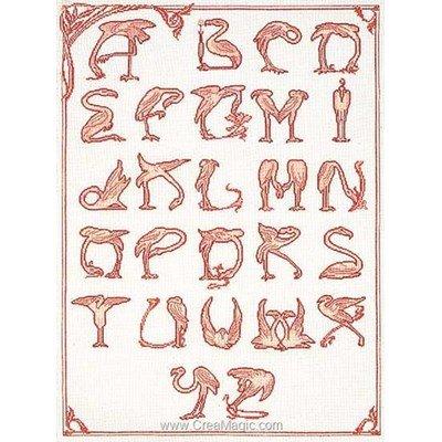 Kit flamingo alphabet sur lin - Thea Gouverneur