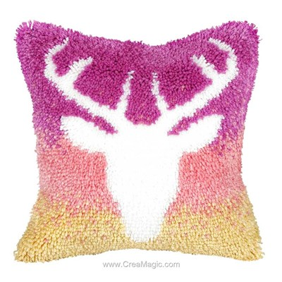 Kit coussin point noue Orchidea cerf girl