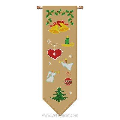 Bannière à noel point de croix de Luc Création à broder