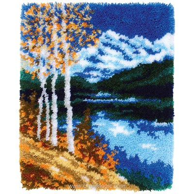 Kit tapis point noue Vervaco paysage d'automne
