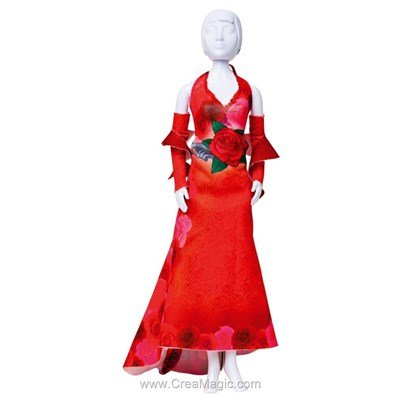 Patron mary red roses DRESS YOUR DOLL