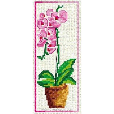 Marque-pages Luc Création à broder pot d'orchidée