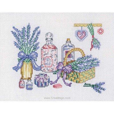 Broderie en point compté parfums de lavande - Princesse