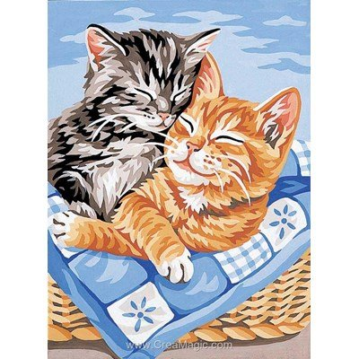 Canevas Royal Paris câlin des chatons