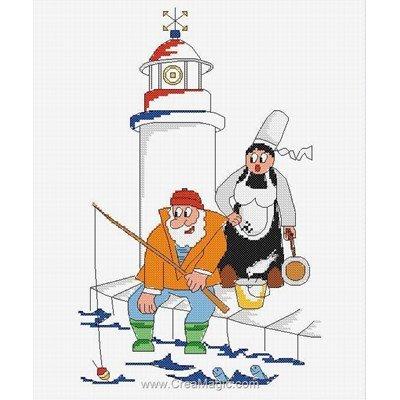 Rien dans la poêle - breton- mam'goudig kit au point de croix compté - Marie Coeur