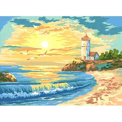 Collection d'art canevas coucher de soleil de la plage