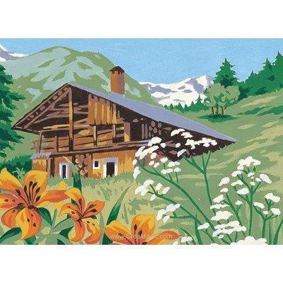 Canevas les fleurs de montagne - Margot