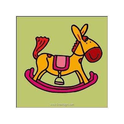 Luc Création kit canevas pour débutant mon cheval à bascule