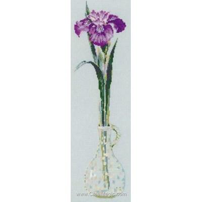 Broderie au point compté roi des fleurs de RIOLIS