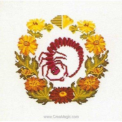 Modèle broderie scorpio sur aida - Thea Gouverneur