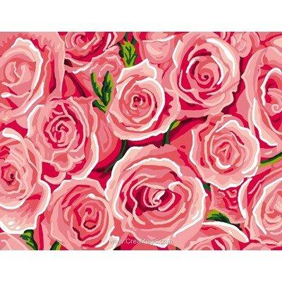 Pureté de roses canevas - Luc Création