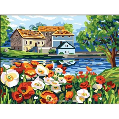 Collection d'art canevas la maison de l'autre rive