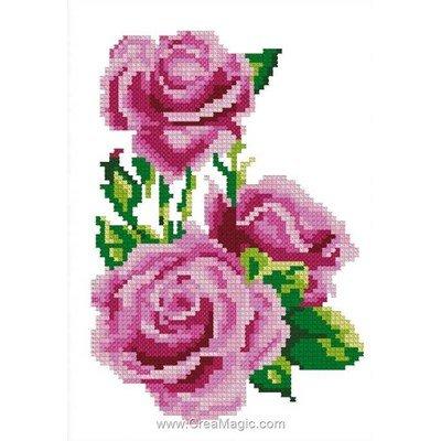 Mes 3 roses mini kit de point de croix - Luc Création