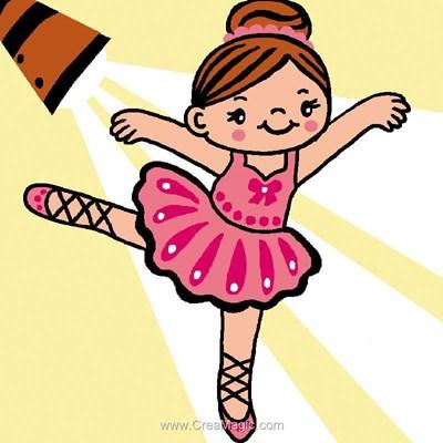 Petite ballerine kit canevas a broder pour enfants - Luc Création