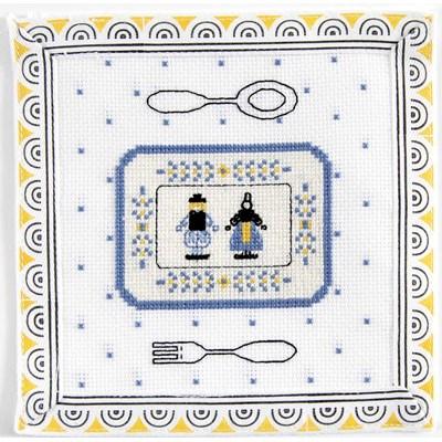 La dinette bretonne - bretagne mini kit de point de croix - DMC