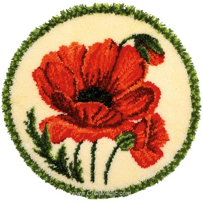 Tapis point noue cycle de coquelicot - Vervaco