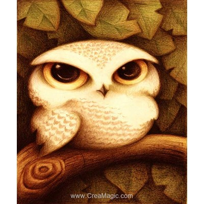 Kit broderie diamant Diamond Painting owl
