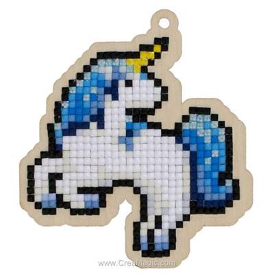 Broderie diamant Wizardi licorne bleue